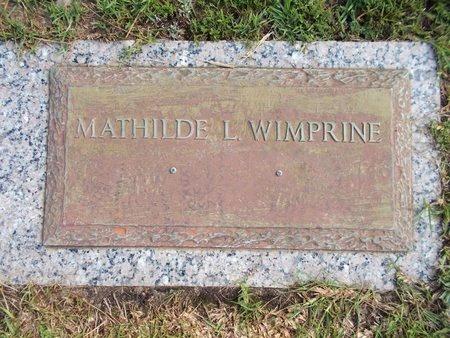 WIMPRINE, MATHILDE L - Hancock County, Mississippi   MATHILDE L WIMPRINE - Mississippi Gravestone Photos
