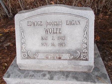 "EAGAN WOLFE, EDWIGE ""BOOTSIE"" - Hancock County, Mississippi | EDWIGE ""BOOTSIE"" EAGAN WOLFE - Mississippi Gravestone Photos"