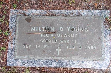 YOUNG (VETERAN WWII), MILTON D (NEW) - Hancock County, Mississippi   MILTON D (NEW) YOUNG (VETERAN WWII) - Mississippi Gravestone Photos