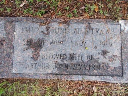 YOUNG ZIMMERMAN, EMILY - Hancock County, Mississippi | EMILY YOUNG ZIMMERMAN - Mississippi Gravestone Photos