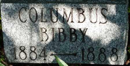BIBBY, COLUMBUS - Itawamba County, Mississippi | COLUMBUS BIBBY - Mississippi Gravestone Photos