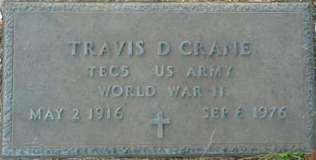 CRANE (VETERAN WWII), TRAVIS D - Itawamba County, Mississippi | TRAVIS D CRANE (VETERAN WWII) - Mississippi Gravestone Photos
