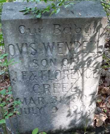 CREEL, OVIS WENDELL - Itawamba County, Mississippi | OVIS WENDELL CREEL - Mississippi Gravestone Photos