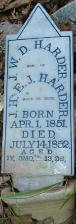 HARDER, W.D. - Itawamba County, Mississippi   W.D. HARDER - Mississippi Gravestone Photos