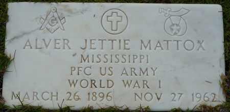MATTOX (VETERAN WWI), ALVER JETTIE - Itawamba County, Mississippi | ALVER JETTIE MATTOX (VETERAN WWI) - Mississippi Gravestone Photos