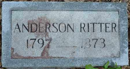 RITTER, ANDERSON - Itawamba County, Mississippi | ANDERSON RITTER - Mississippi Gravestone Photos