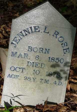 ROSE, JENNIE L - Itawamba County, Mississippi   JENNIE L ROSE - Mississippi Gravestone Photos