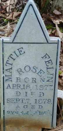ROSE, MATTIE FELIN - Itawamba County, Mississippi | MATTIE FELIN ROSE - Mississippi Gravestone Photos