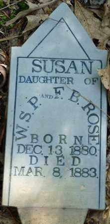 ROSE, SUSAN - Itawamba County, Mississippi | SUSAN ROSE - Mississippi Gravestone Photos