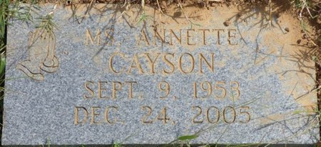 CAYSON, ANNETTE - Lee County, Mississippi | ANNETTE CAYSON - Mississippi Gravestone Photos