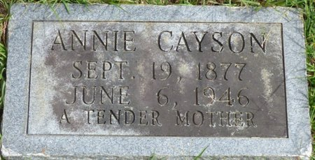 CAYSON, ANNIE - Lee County, Mississippi | ANNIE CAYSON - Mississippi Gravestone Photos