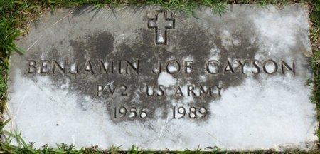 CAYSON (VETERAN), BENJAMIN JOE - Lee County, Mississippi | BENJAMIN JOE CAYSON (VETERAN) - Mississippi Gravestone Photos