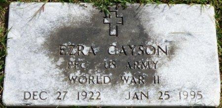 CAYSON (VETERAN WWII), EZRA - Lee County, Mississippi | EZRA CAYSON (VETERAN WWII) - Mississippi Gravestone Photos