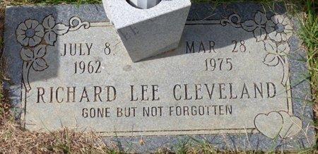 CLEVELAND, RICHARD LEE - Lee County, Mississippi   RICHARD LEE CLEVELAND - Mississippi Gravestone Photos