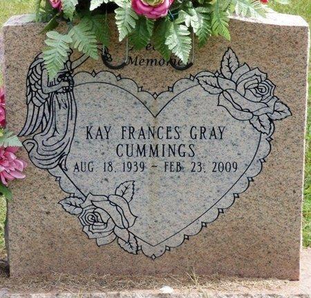 GRAY CUMMINGS, KAY FRANCES - Lee County, Mississippi | KAY FRANCES GRAY CUMMINGS - Mississippi Gravestone Photos