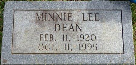 DEAN, MINNIE LEE - Lee County, Mississippi | MINNIE LEE DEAN - Mississippi Gravestone Photos