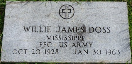 DOSS (VETERAN), WILLIE JAMES - Lee County, Mississippi | WILLIE JAMES DOSS (VETERAN) - Mississippi Gravestone Photos