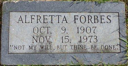 FORBES, ALFRETTA - Lee County, Mississippi | ALFRETTA FORBES - Mississippi Gravestone Photos