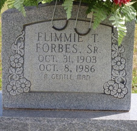 FORBES SR., FLIMMIE T - Lee County, Mississippi | FLIMMIE T FORBES SR. - Mississippi Gravestone Photos