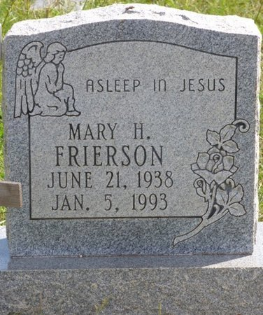 FRIERSON, MARY H - Lee County, Mississippi | MARY H FRIERSON - Mississippi Gravestone Photos