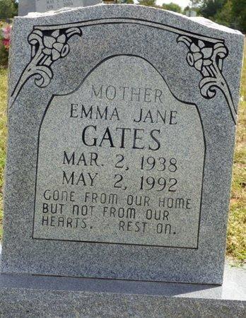 GATES, EMMA JANE - Lee County, Mississippi   EMMA JANE GATES - Mississippi Gravestone Photos