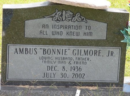 "GILMORE JR., AMBUS ""BONNIE"" - Lee County, Mississippi | AMBUS ""BONNIE"" GILMORE JR. - Mississippi Gravestone Photos"