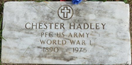 HADLEY (VETERAN WWI), CHESTER - Lee County, Mississippi | CHESTER HADLEY (VETERAN WWI) - Mississippi Gravestone Photos