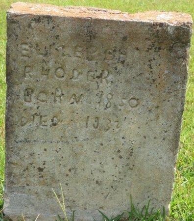 HODER, ELIZABETH R - Lee County, Mississippi   ELIZABETH R HODER - Mississippi Gravestone Photos