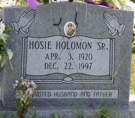 HOLOMON SR., HOSIE - Lee County, Mississippi | HOSIE HOLOMON SR. - Mississippi Gravestone Photos