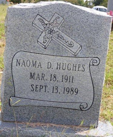 HUGHES, NAOMA D - Lee County, Mississippi | NAOMA D HUGHES - Mississippi Gravestone Photos