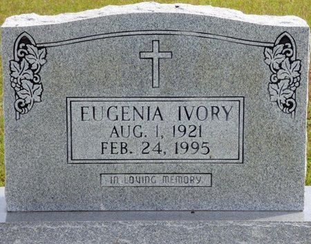 WITHERSPOON IVORY, EUGENIA - Lee County, Mississippi | EUGENIA WITHERSPOON IVORY - Mississippi Gravestone Photos