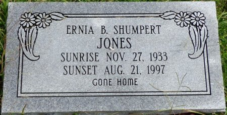 JONES, ERNIA B - Lee County, Mississippi | ERNIA B JONES - Mississippi Gravestone Photos