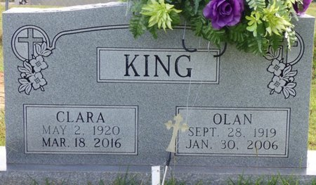 KING, OLAN - Lee County, Mississippi | OLAN KING - Mississippi Gravestone Photos