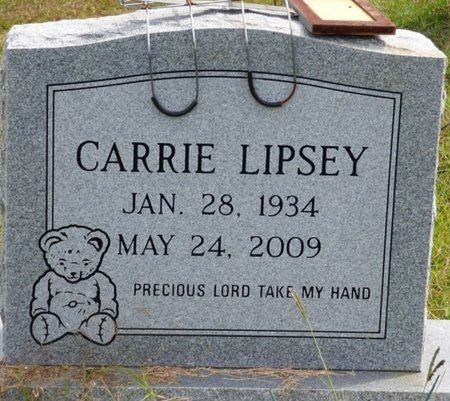 LIPSEY, CARRIE - Lee County, Mississippi | CARRIE LIPSEY - Mississippi Gravestone Photos