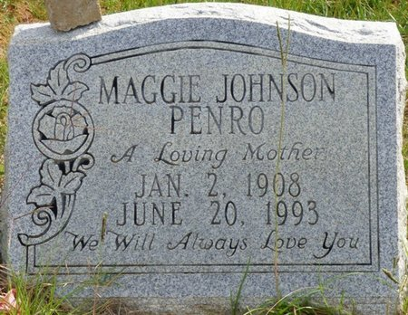 JOHNSON PENRO, MAGGIE - Lee County, Mississippi | MAGGIE JOHNSON PENRO - Mississippi Gravestone Photos