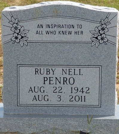 PENRO, RUBY NELL - Lee County, Mississippi | RUBY NELL PENRO - Mississippi Gravestone Photos