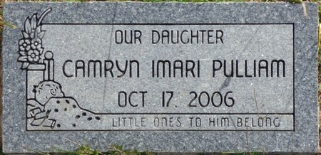 PULLIAM, CAMRYN IMARI - Lee County, Mississippi | CAMRYN IMARI PULLIAM - Mississippi Gravestone Photos