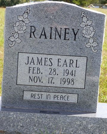 RAINEY, JAMES EARL - Lee County, Mississippi | JAMES EARL RAINEY - Mississippi Gravestone Photos