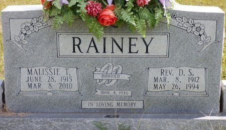 TRICE RAINEY, MALISSIE - Lee County, Mississippi | MALISSIE TRICE RAINEY - Mississippi Gravestone Photos