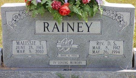 RAINEY, MALISSIE - Lee County, Mississippi | MALISSIE RAINEY - Mississippi Gravestone Photos