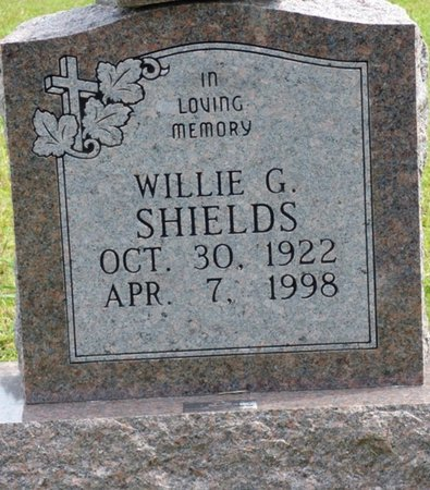 SHIELDS, WILLIE G - Lee County, Mississippi | WILLIE G SHIELDS - Mississippi Gravestone Photos