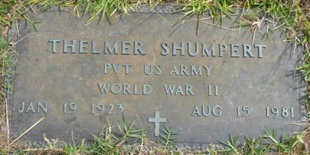 SHUMPERT (VETERAN WWII), THELMER - Lee County, Mississippi | THELMER SHUMPERT (VETERAN WWII) - Mississippi Gravestone Photos