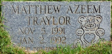 TRAYLOR, MATTHEW AZEEM - Lee County, Mississippi | MATTHEW AZEEM TRAYLOR - Mississippi Gravestone Photos