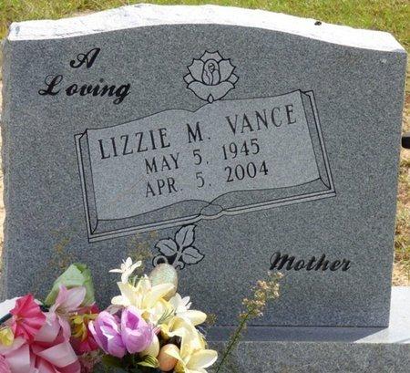 VANCE, LIZZIE M - Lee County, Mississippi | LIZZIE M VANCE - Mississippi Gravestone Photos