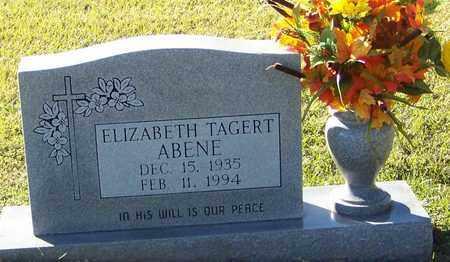 TAGERT ABENE, ELIZABETH - Marion County, Mississippi   ELIZABETH TAGERT ABENE - Mississippi Gravestone Photos