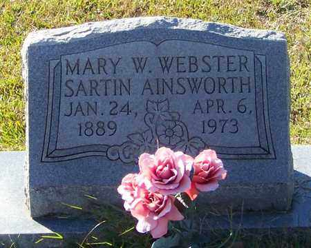 AINSWORTH, MARY W WEBSTER - Marion County, Mississippi | MARY W WEBSTER AINSWORTH - Mississippi Gravestone Photos
