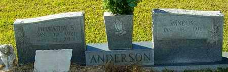 ANDERSON, HIAWATHA S - Marion County, Mississippi | HIAWATHA S ANDERSON - Mississippi Gravestone Photos