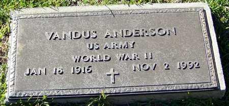ANDERSON (VETERAN WWII), VANDUS - Marion County, Mississippi | VANDUS ANDERSON (VETERAN WWII) - Mississippi Gravestone Photos