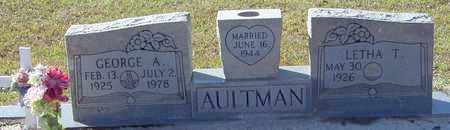 AULTMAN, GEORGE A - Marion County, Mississippi | GEORGE A AULTMAN - Mississippi Gravestone Photos