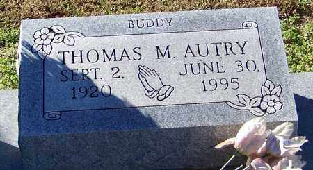 AUTRY (CLOSE UP), THOMAS M - Marion County, Mississippi | THOMAS M AUTRY (CLOSE UP) - Mississippi Gravestone Photos